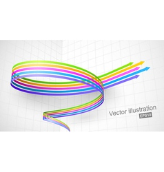 Colored spiral arrow 3D vector image vector image