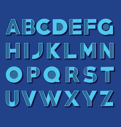 creative alphabet set vector image vector image