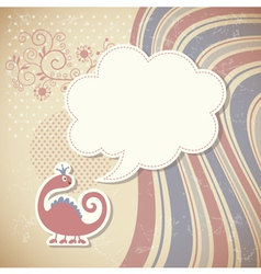 Cute dragon and speech bubble vector