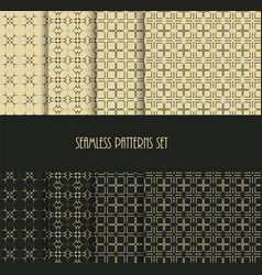 Dotted oriental motif seamless pattern collection vector