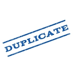 Duplicate watermark stamp vector