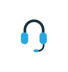 earphone colorful icon symbol premium quality vector image vector image