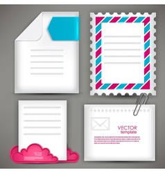Empty white paper notes icon for mail vector