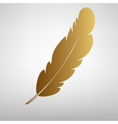 Feather sign flat style icon vector