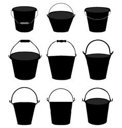 Garden buckets vector