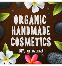 Handmade organic cosmetics vector image vector image