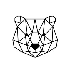 head of bear vector image