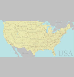 high detailed accurate exact united states of vector image vector image