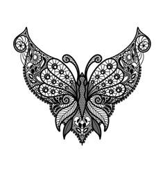 lace neckline vector image vector image