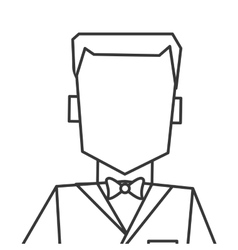 man with tuxedo portrait icon vector image