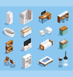 Modern furniture icons collection vector
