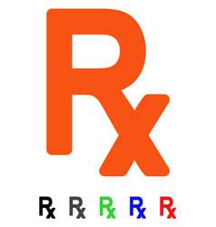 Prescription symbol flat icon vector