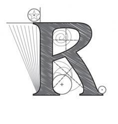 r vector image vector image