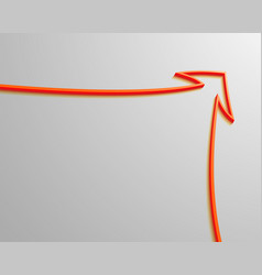 red arrow goes up white background vector image vector image