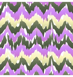 Seamless patter design with chevron ikat repeating vector