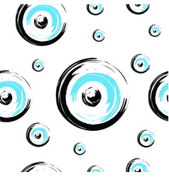 seamless tileable texture with greek evil eye vector image vector image