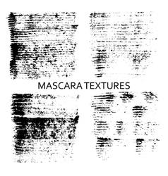 Set of 4 artistic mascara textures vector image vector image