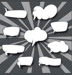 set of speech bubbles retro vector image