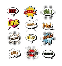 Set of speech bubbles with text vector