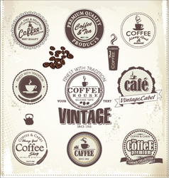 Set Of Vintage Retro Coffee Badges vector image vector image