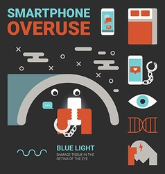 Smartphone overuse vector