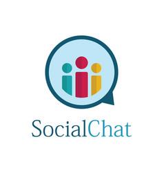 social chat bubble logo vector image