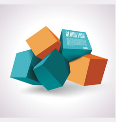 Ssign of 3d cubes structure vector