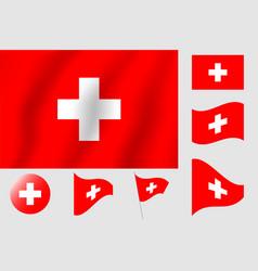 Switzerland flag realistic flag national symbol vector