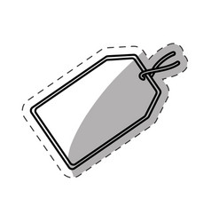 tag price discount cut line vector image