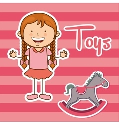 Toys kids vector