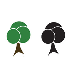 two trees - ecology concept vector image vector image