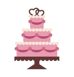 Wedding cake Isolated on background vector image