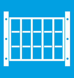 Yard fence icon white vector