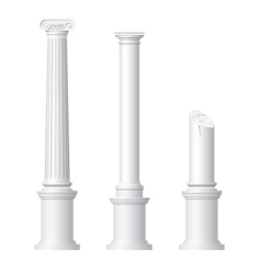 Realistic antique columns vector