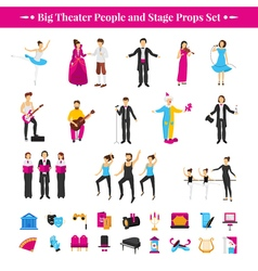 Stage props set vector