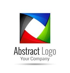 Abstract element shape design icon ribbons vector