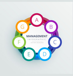 Management steps circle infographic template in vector