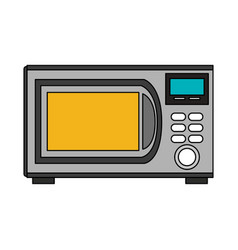 Color image cartoon microwave oven element kitchen vector