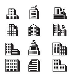 Building icons symbol set vector