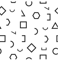 Seamless monochrome pattern with geometric shapes vector