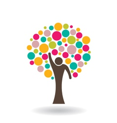 People circle tree vector