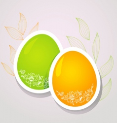 Egg floral banners color vector