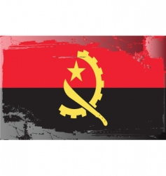 Angola national flag vector