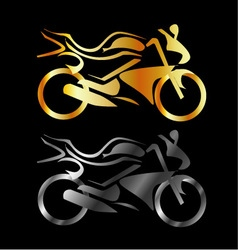 Motorbike with abstract lines vector
