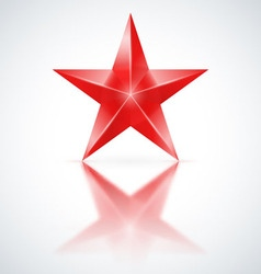 Red star on white background vector