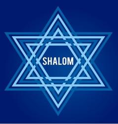 peace symbol david star vector image