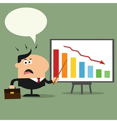 Businessman Pointing to a Board vector image