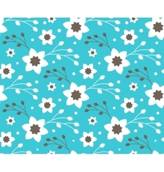 Seamless bright fun abstract spring flower pattern vector