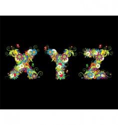 alphabet floral vector image vector image