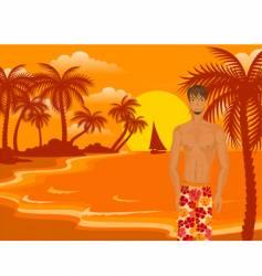 beach boy vector image vector image
